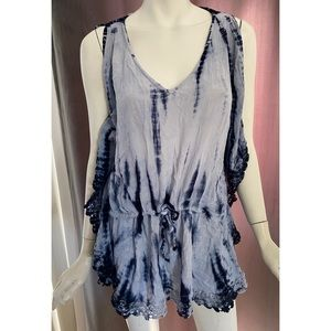 Blue Island Tie Dye Swimsuit Cover Up